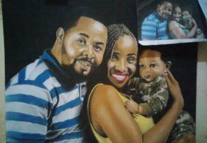 I will do a realistic painting of ur portrait of one person starting from ₦10000